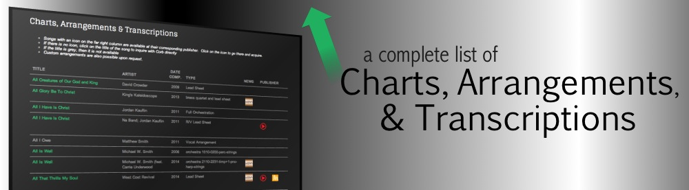 Charts, Arrangements & Transcriptions